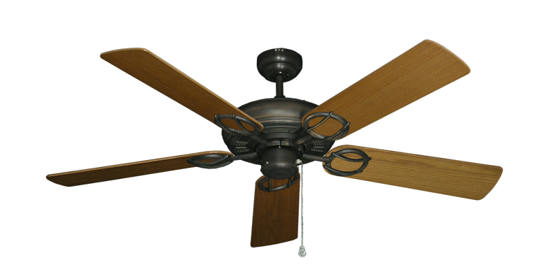 "Picture of Trinidad Oil Rubbed Bronze with 52"" Light Oak Blades"