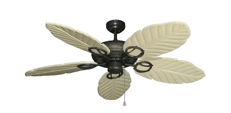 "Picture of Trinidad Oil Rubbed Bronze with 52"" Series 125 Arbor Whitewash Blades"