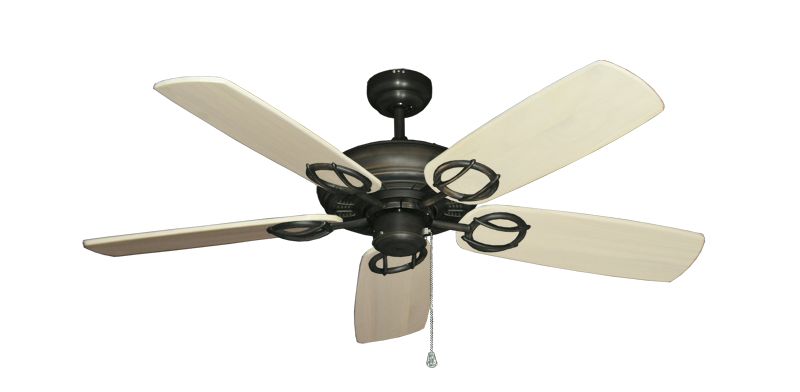 "Trinidad Oil Rubbed Bronze with 52"" Series 425 Arbor Whitewash Blades"
