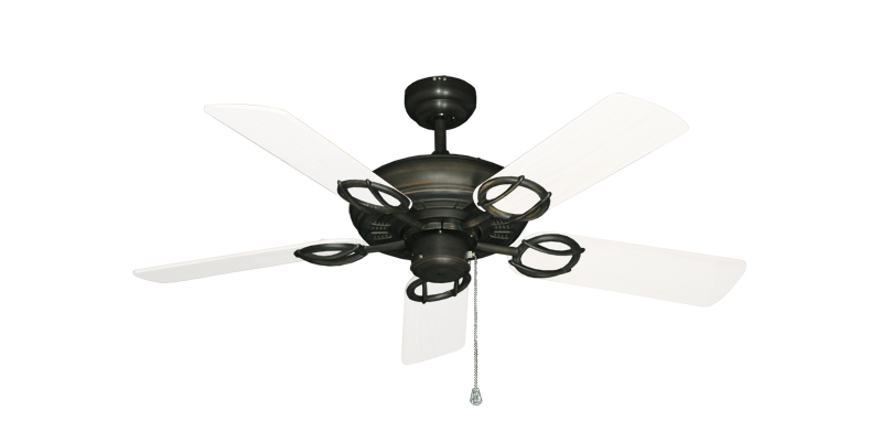 """Picture of Trinidad Oil Rubbed Bronze with 44"""" Outdoor Pure White Blades"""