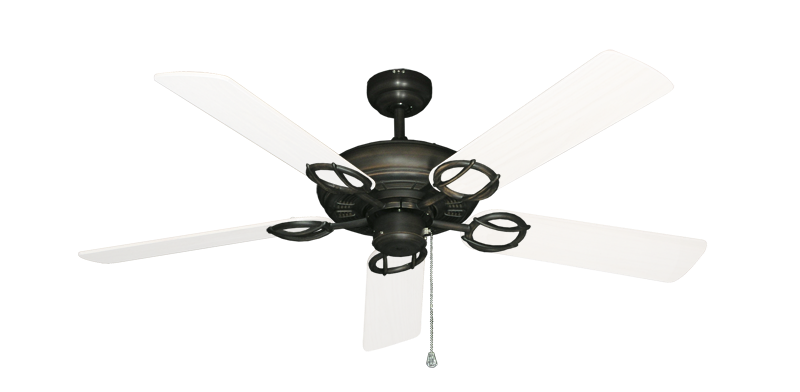 """Picture of Trinidad Oil Rubbed Bronze with 52"""" Outdoor Pure White Blades"""