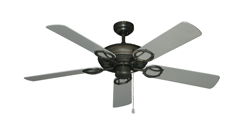 "Picture of Trinidad Oil Rubbed Bronze with 52"" Outdoor Brushed Nickel Blades"