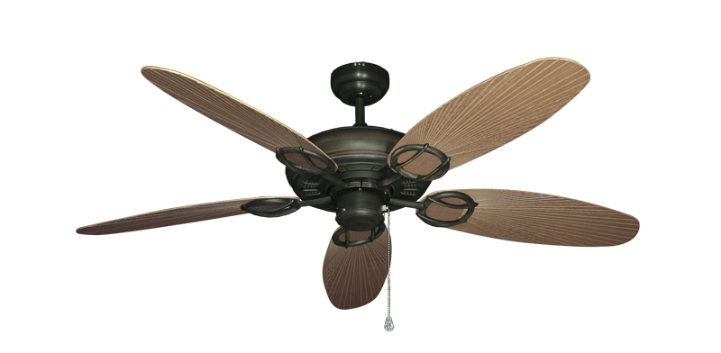 """Trinidad Oil Rubbed Bronze with 52"""" Outdoor Leaf Tan Blades"""