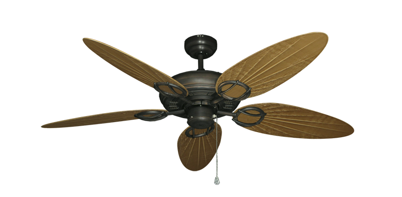"""Trinidad Oil Rubbed Bronze with 52"""" Outdoor Palm Walnut Blades"""