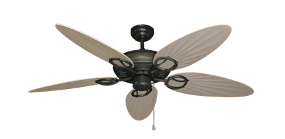 "Picture of Trinidad Oil Rubbed Bronze with 52"" Outdoor Palm Distressed White Blades"