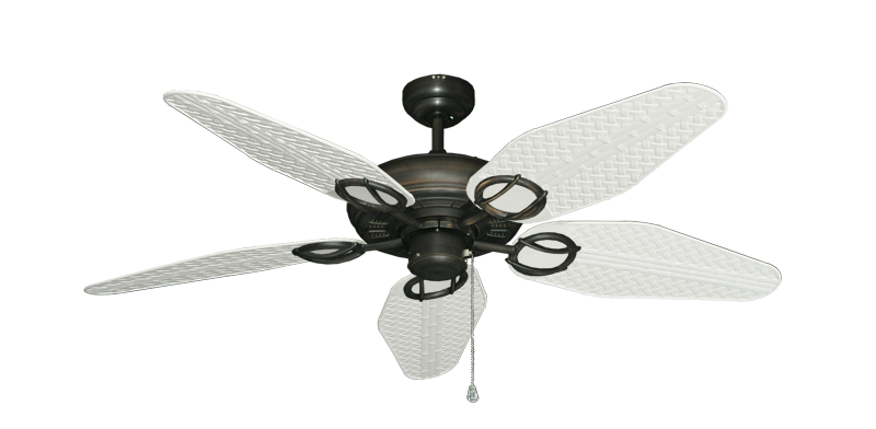 "Picture of Trinidad Oil Rubbed Bronze with 52"" Outdoor Weave Pure White Blades"