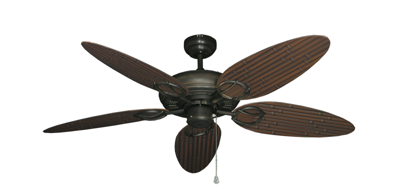 """Picture of Trinidad Oil Rubbed Bronze with 52"""" Outdoor Bamboo Oil Rubbed Bronze Blades"""