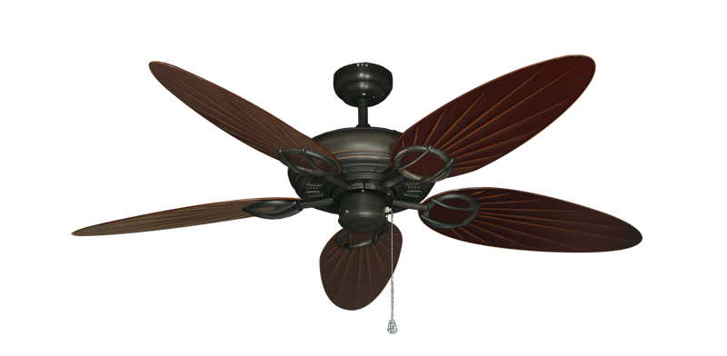 "Picture of Trinidad Oil Rubbed Bronze with 52"" Outdoor Palm Wine Blades"