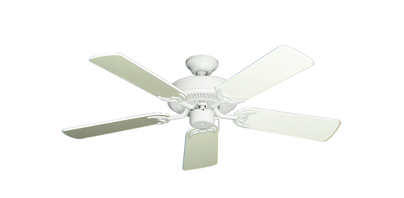 """Picture of Bermuda Breeze V Pure White with 44"""" Antique White Gloss Blades"""