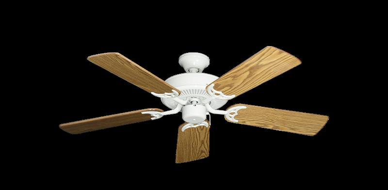 "Bermuda Breeze V Pure White with 44"" Oak Gloss Blades"