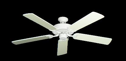 "Picture of Bermuda Breeze V Pure White with 52"" Antique White Blades"
