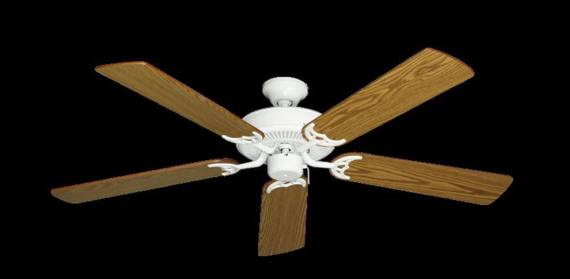 "Picture of Bermuda Breeze V Pure White with 52"" Oak Blades"