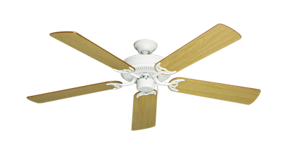 """Picture of Bermuda Breeze V Pure White with 52"""" Honey Oak Blades"""
