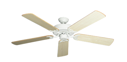 """Picture of Bermuda Breeze V Pure White with 52"""" Bleached Oak Gloss Blades"""