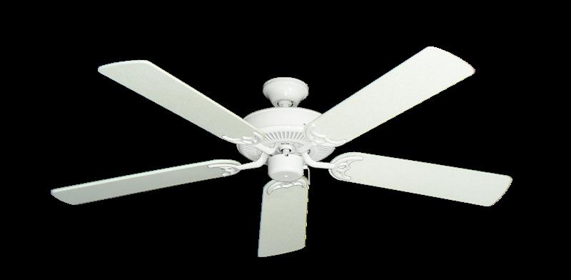 "Picture of Bermuda Breeze V Pure White with 52"" Navajo White Blades"