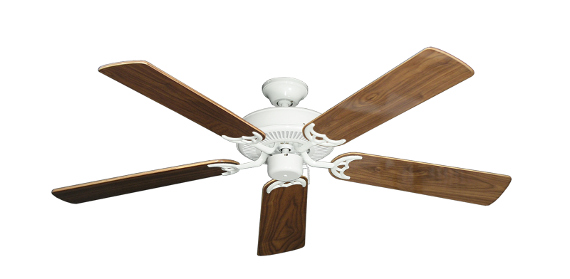 """Picture of Bermuda Breeze V Pure White with 52"""" Walnut Gloss Blades"""