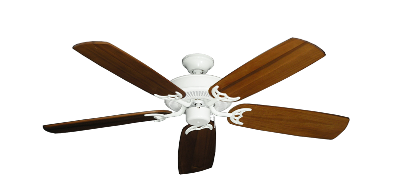 """Picture of Bermuda Breeze V Pure White with 52"""" Series 425 Arbor Oak Blades"""