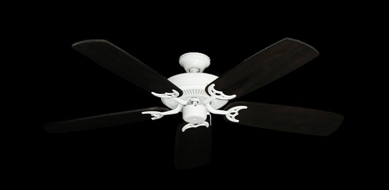 "Picture of Bermuda Breeze V Pure White with 52"" Series 425 Arbor Dark Walnut Blades"