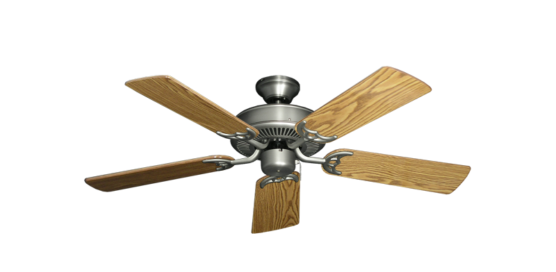 """Picture of Bermuda Breeze V Satin Steel with 44"""" Oak Gloss Blades"""
