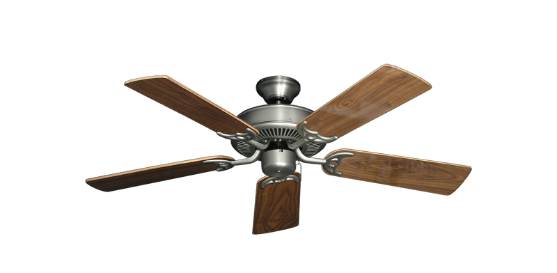 """Picture of Bermuda Breeze V Satin Steel with 44"""" Walnut Gloss Blades"""