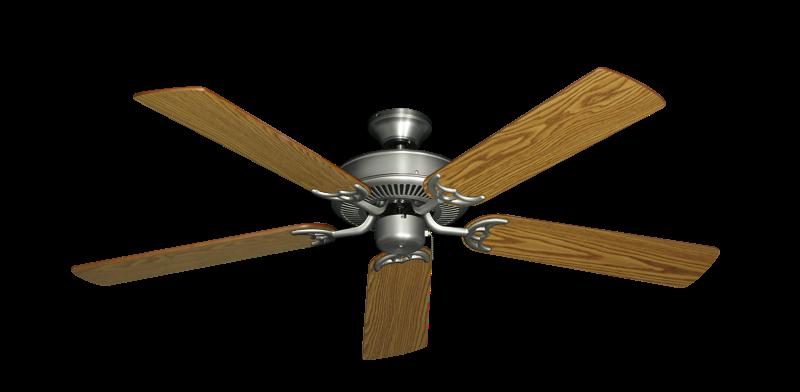 "Bermuda Breeze V Satin Steel with 52"" Oak Blades"