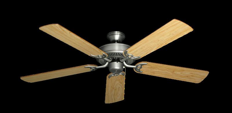 "Bermuda Breeze V Satin Steel with 52"" Maple Blades"