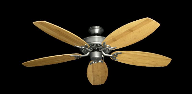 "Bermuda Breeze V Satin Steel with 52"" Oar Bamboo Brown Blades"