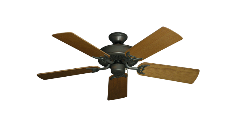 """Picture of Bermuda Breeze V Oil Rubbed Bronze with 44"""" Light Oak Blades"""