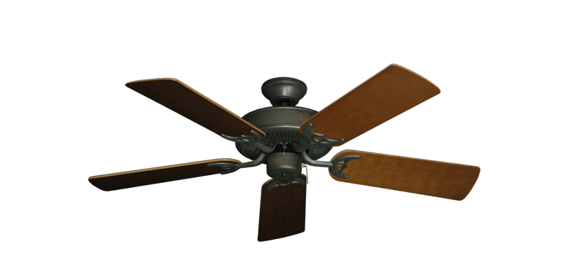 """Bermuda Breeze V Oil Rubbed Bronze with 44"""" Natural Cherry Blades"""