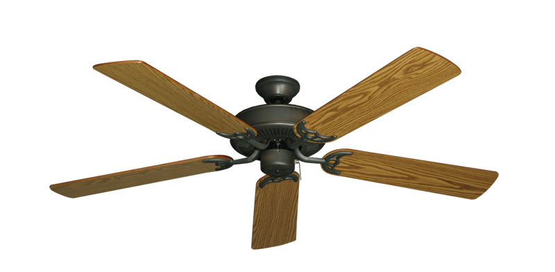 "Picture of Bermuda Breeze V Oil Rubbed Bronze with 52"" Oak Blades"
