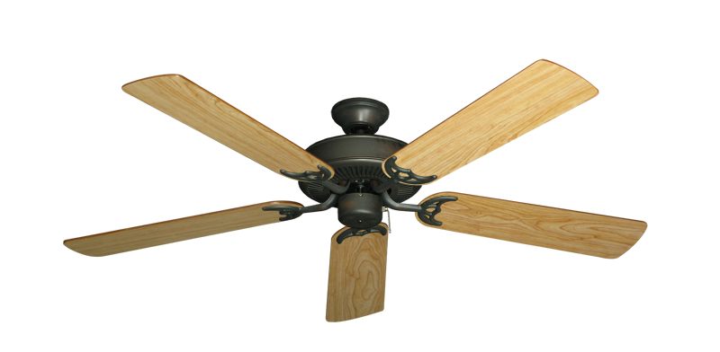 """Picture of Bermuda Breeze V Oil Rubbed Bronze with 52"""" Maple Blades"""