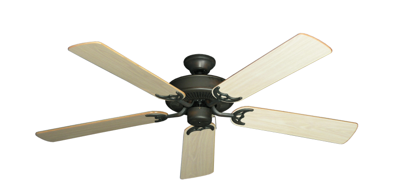 """Picture of Bermuda Breeze V Oil Rubbed Bronze with 52"""" Bleached Oak Gloss Blades"""