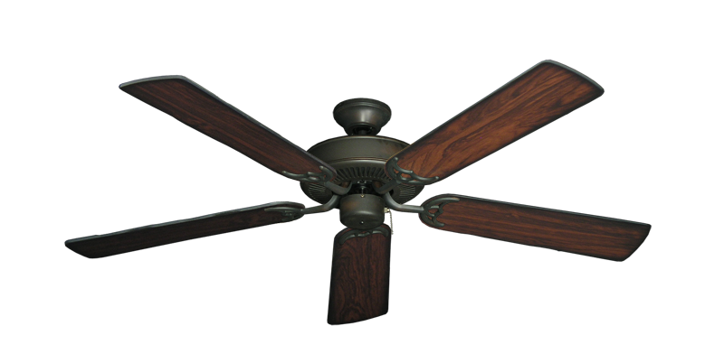 """Bermuda Breeze V Oil Rubbed Bronze with 52"""" Burnt Cherry Blades"""