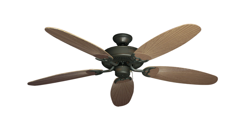"Picture of Bermuda Breeze V Oil Rubbed Bronze with 52"" Outdoor Leaf Tan Blades"