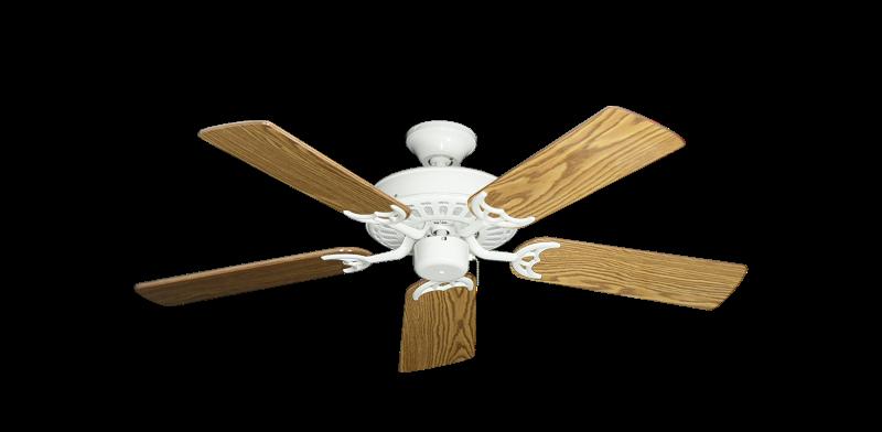 "Bimini Breeze V Pure White with 44"" Oak Gloss Blades"