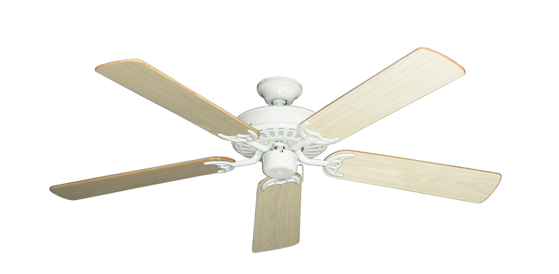 "Picture of Bimini Breeze V Pure White with 52"" Bleached Oak Gloss Blades"