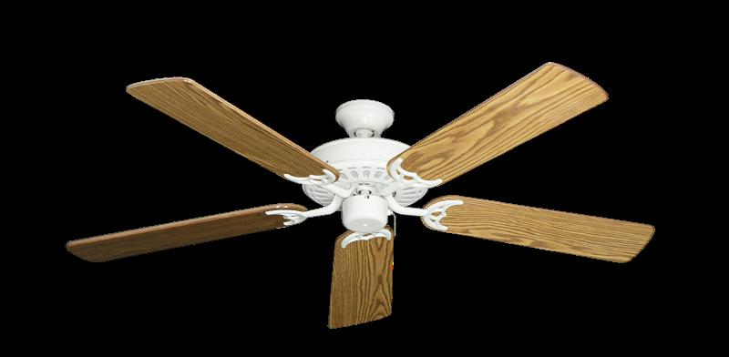 "Picture of Bimini Breeze V Pure White with 52"" Oak Gloss Blades"