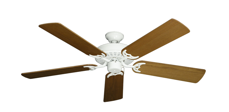 "Bimini Breeze V Pure White with 52"" Light Oak Blades"