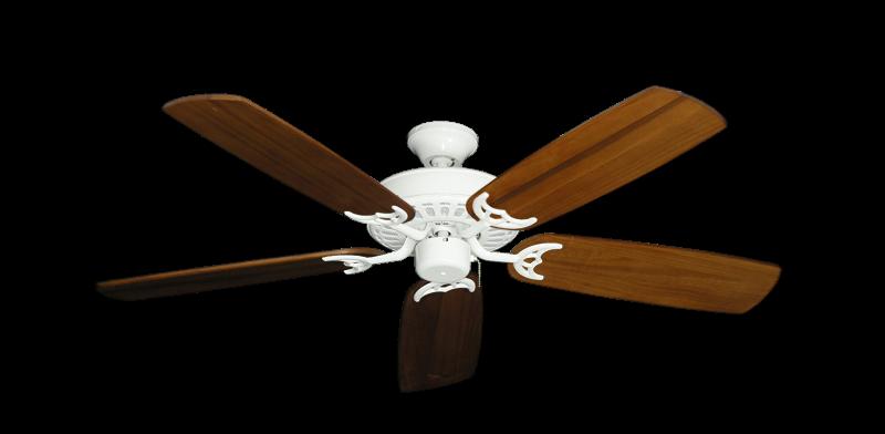 "Picture of Bimini Breeze V Pure White with 52"" Series 425 Arbor Oak Blades"