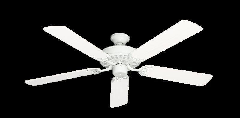 "Picture of Bimini Breeze V Pure White with 52"" Outdoor Pure White Blades"