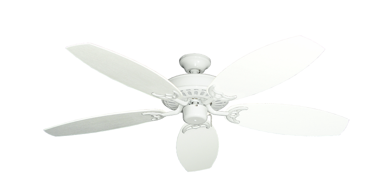"Picture of Bimini Breeze V Pure White with 52"" Outdoor Oar Pure White Blades"