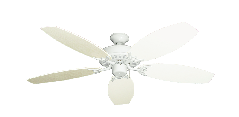 "Bimini Breeze V Pure White with 52"" Outdoor Oar Antique White Blades"