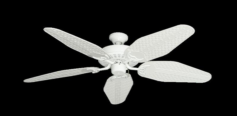 "Picture of Bimini Breeze V Pure White with 52"" Outdoor Weave Pure White Blades"