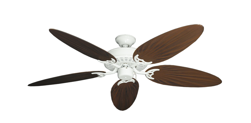 "Picture of Bimini Breeze V Pure White with 52"" Outdoor Palm Oil Rubbed Bronze Blades"