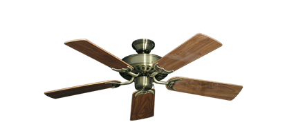 "Picture of Bimini Breeze V Antique Brass with 44"" Walnut Gloss Blades"