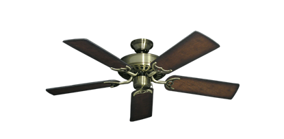 "Picture of Bimini Breeze V Antique Brass with 44"" Distressed Hickory Blades"