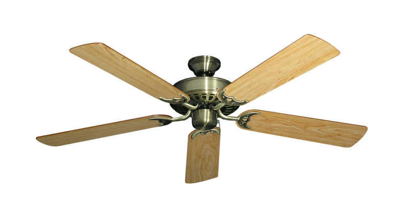 """Picture of Bimini Breeze V Antique Brass with 52"""" Maple Blades"""
