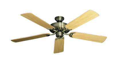 "Picture of Bimini Breeze V Antique Brass with 52"" Honey Oak Gloss Blades"