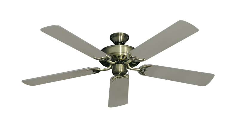 """Picture of Bimini Breeze V Antique Brass with 52"""" Satin Steel (painted) Blades"""