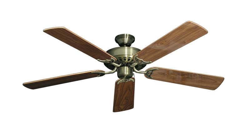 "Picture of Bimini Breeze V Antique Brass with 52"" Walnut Gloss Blades"